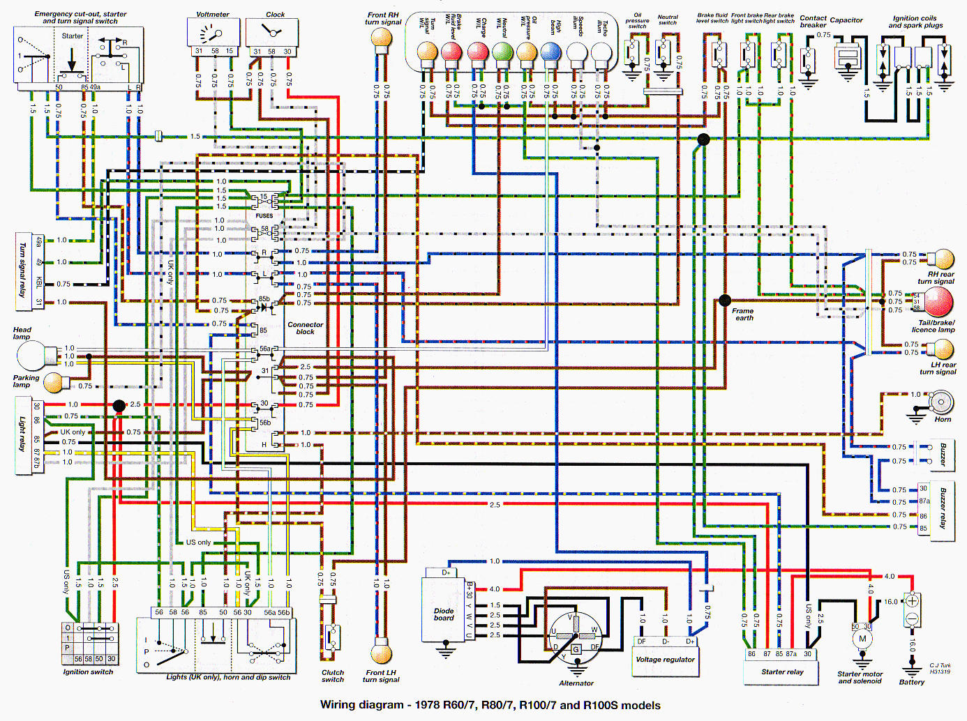 oil pressure switch wiring diagram how to home and more http www omnilex com public bmw78 78r100wire jpg the says wire