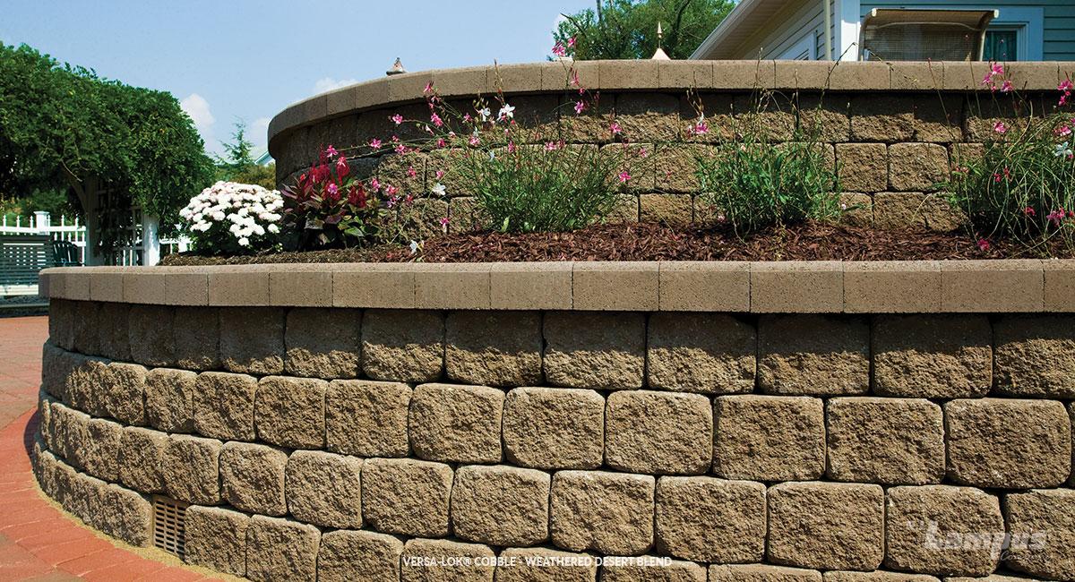 Large Caps Wall Retaining Concrete