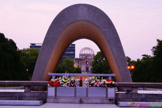Japon - Hiroshima - Parc du Mémorial de la Paix - Flamme