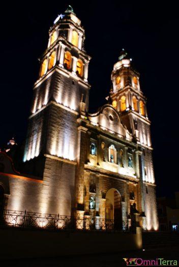 Mexique - Campeche - Eglise la nuit