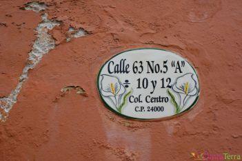 Mexique - Campeche - Nom de rue