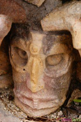 Mexique - Merida - Uxmal - Sculpture