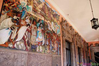 Mexique - Mexico - Palais national - Intérieur