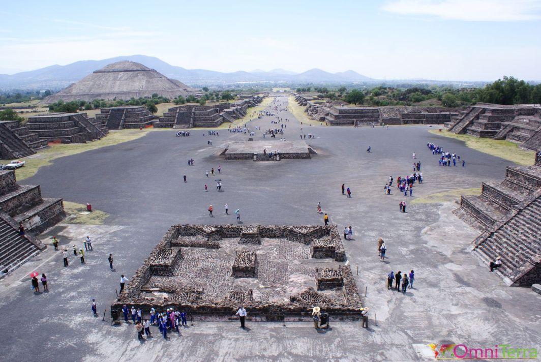 Mexique - Teotihuacan - Vue du site