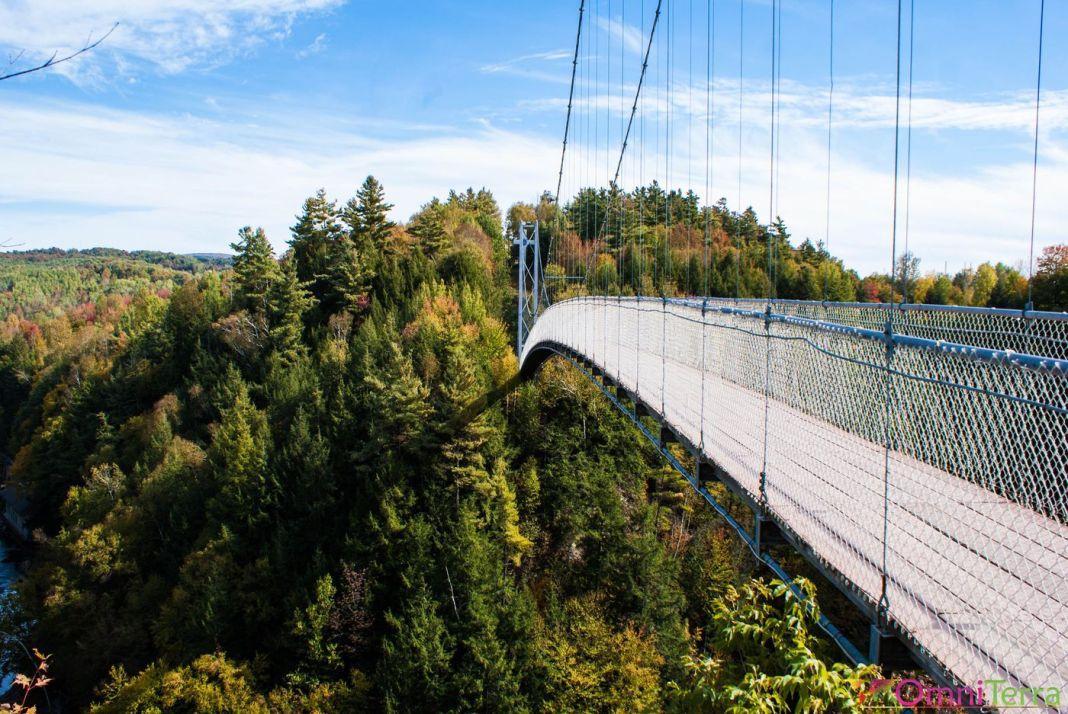 Estrie - Coaticook - Parc de la Gorge - Pont suspendu
