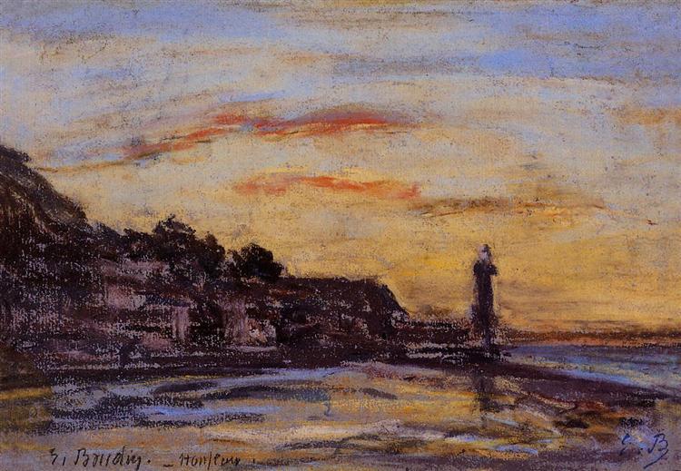 Le phare d'Honfleur - Eugene Boudin