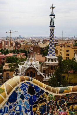 Barcelone-Parc Güell-Banc-trencadis
