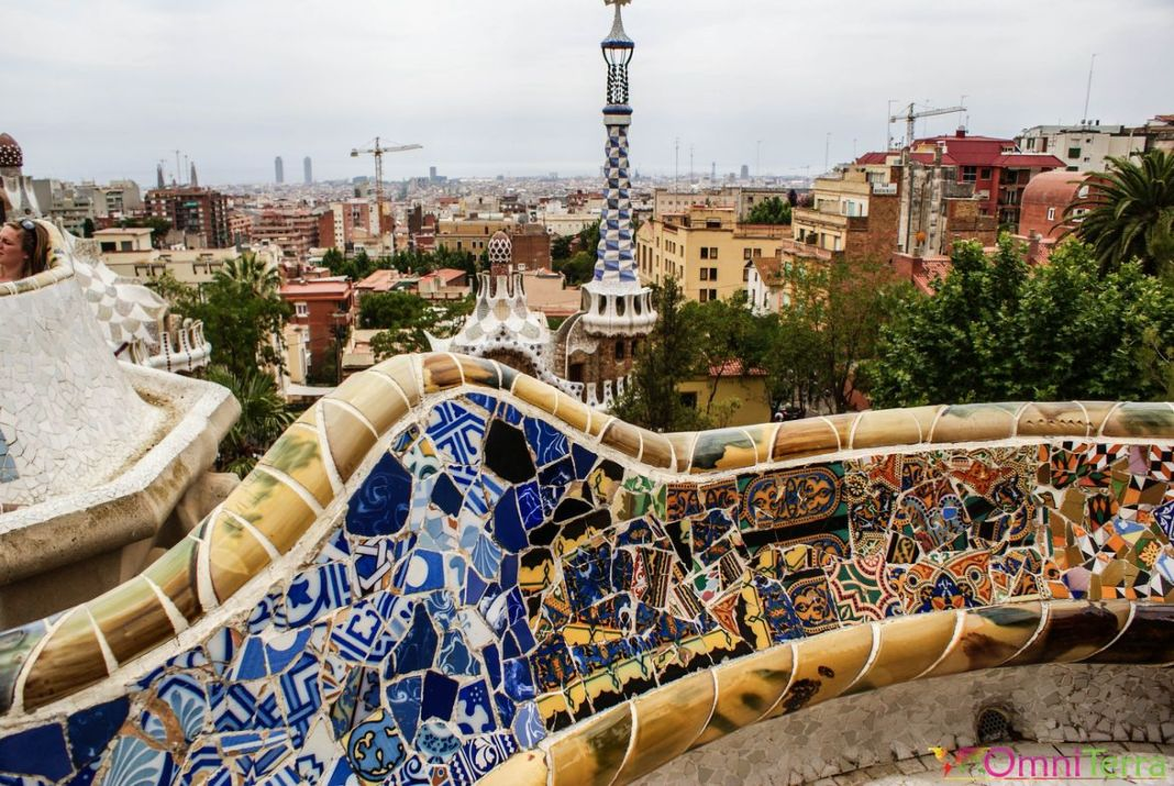 Barcelone - Parc Guell -Trencadis