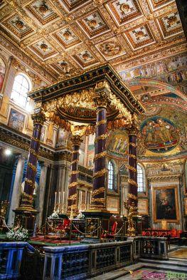 Rome - Basilique Sainte Marie Majeure - Baldaquin