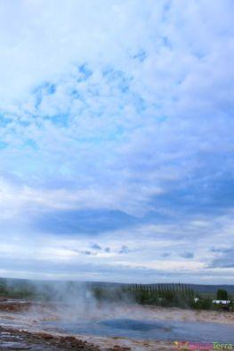 Islande - Geysir - Explosion geyser 1