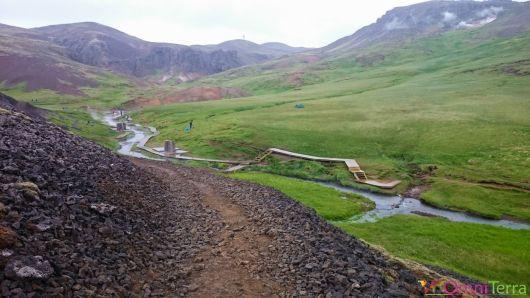 Islande - Hveragerdi- Source chaude - Panorama