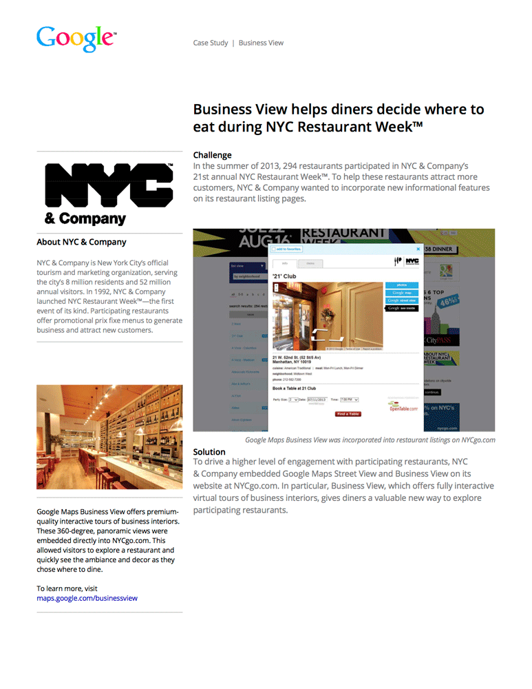 Feiten VR - Google Case Studies - NYC