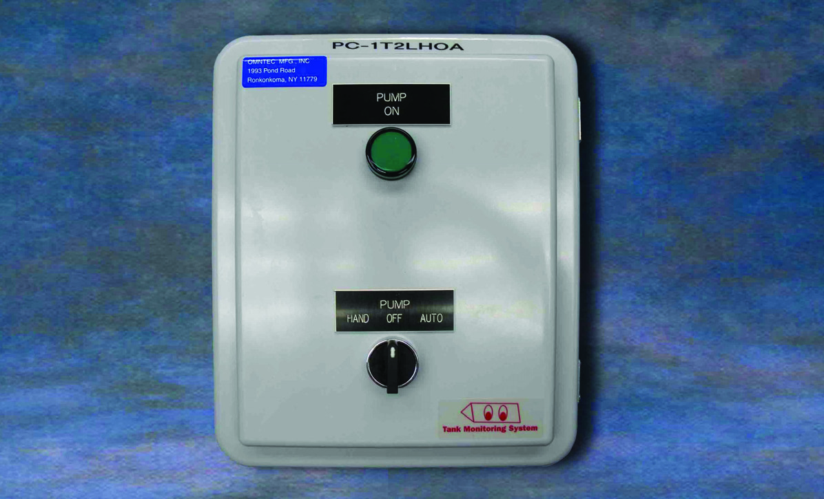 hight resolution of the pc 1t2lhoa pump control panel is designed to monitor one tank in conjunction with a two point float switch for high level and low level to control an