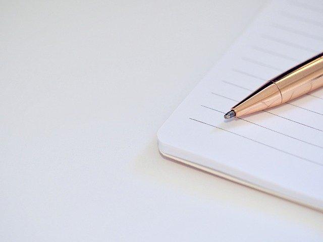中川郁子のノートとペン