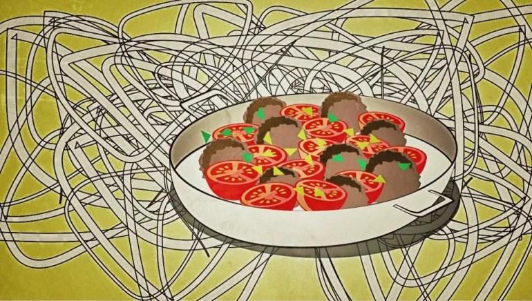 hackb llchen tomate und mozzarella aus dem ofen mit bandnudeln omoxx. Black Bedroom Furniture Sets. Home Design Ideas