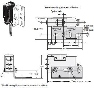 E3S-A Built-in Amplifier Photoelectric Sensor (Medium Size