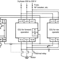 Solid State Relay Wiring Diagram Mixture Of Elements And Compounds Switching Time Lag Faq India Omron Ia G3j Simple Contactors With G36 Reversible Units To Prevent Short Circuits