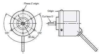 E6C2-C Slim Incremental 50-mm-dia. Rotary Encoder