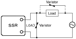 Surge-absorbing Circuits for AC-load Solid-state Relays