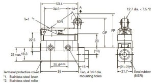 ZC[]55 Enclosed SwitchDimensions | OMRON Industrial Automation Australia