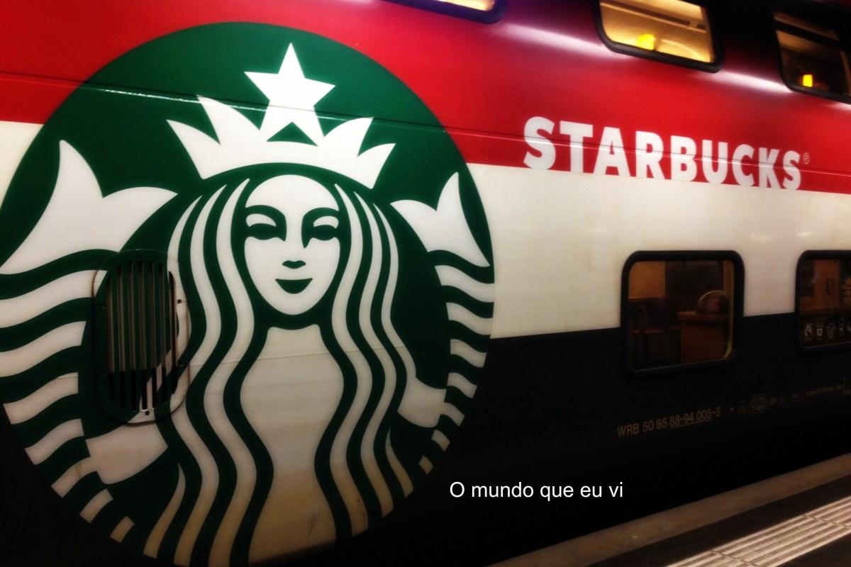 Café no vagão do Starbucks