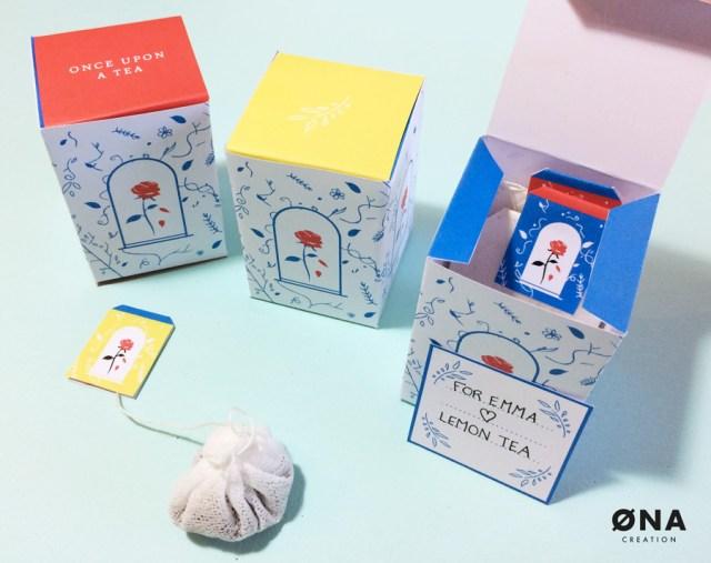 tutoriel boîte à thé à imprimer la belle et la bête DIY