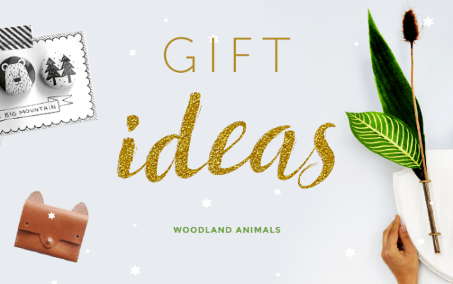 Gift ideas - woodland animals christmas