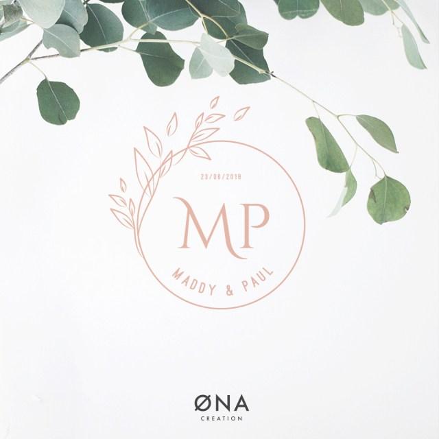Logo de mariage champêtre- template - logo à personnaliser