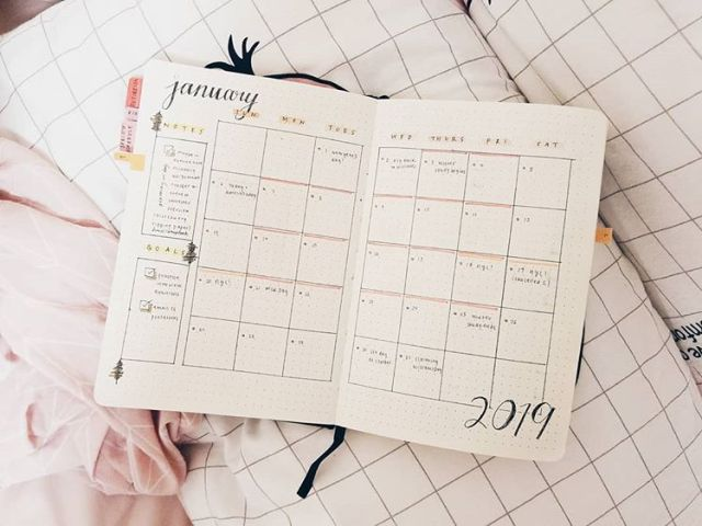 Monthly log pandacubcake calendrier mensuel bullet journal