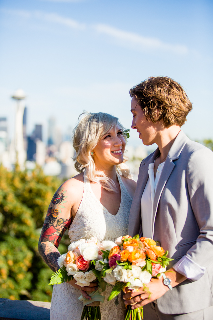 Wedding Kathleen  Kelsey  A Bicycle Built For Two