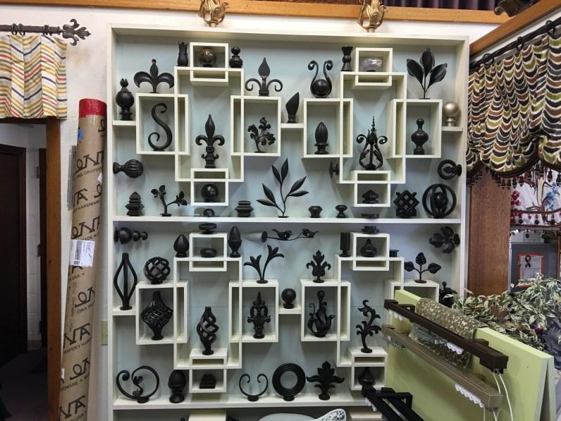 Iron finial display