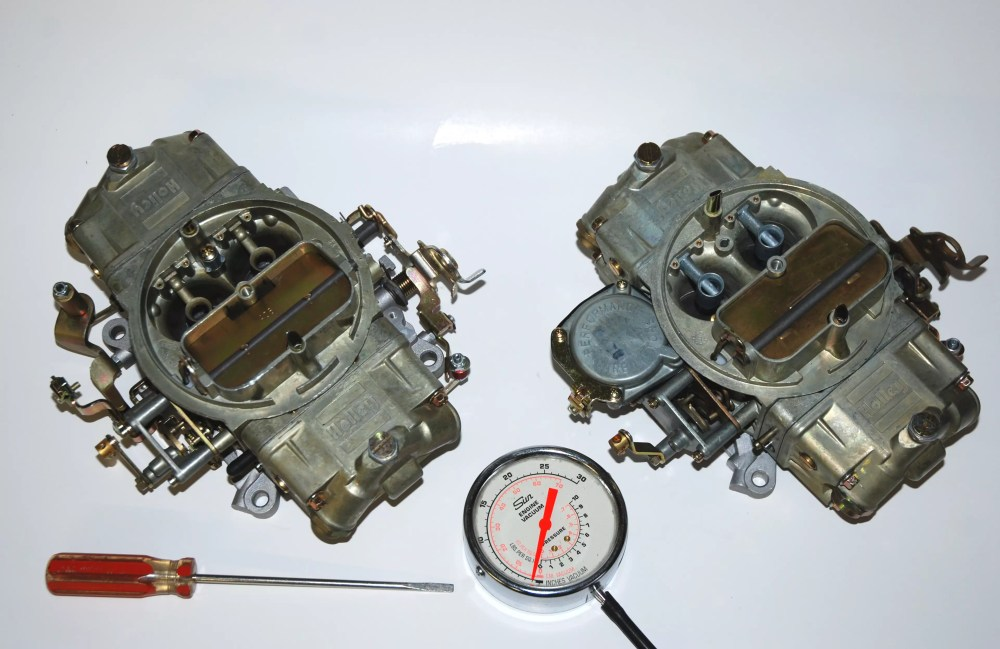 medium resolution of holley double pumper carburetors and idle tuning tools