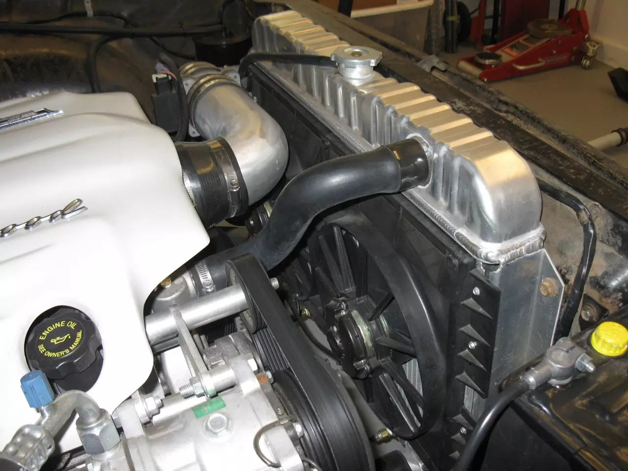 hight resolution of this 1960 chevy station wagon has an ls engine swap and a maradyne dual electric fan to keep things nice and cool our fans can perform and survive the