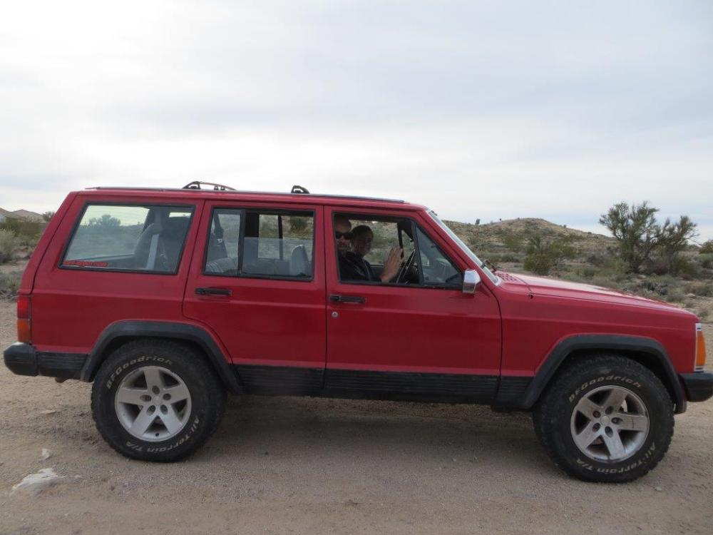 medium resolution of although this isn t stock height some previous owner had installed a cheap 2 inch lift at some time in the xj s 25 year history the rubicon wheels and tires