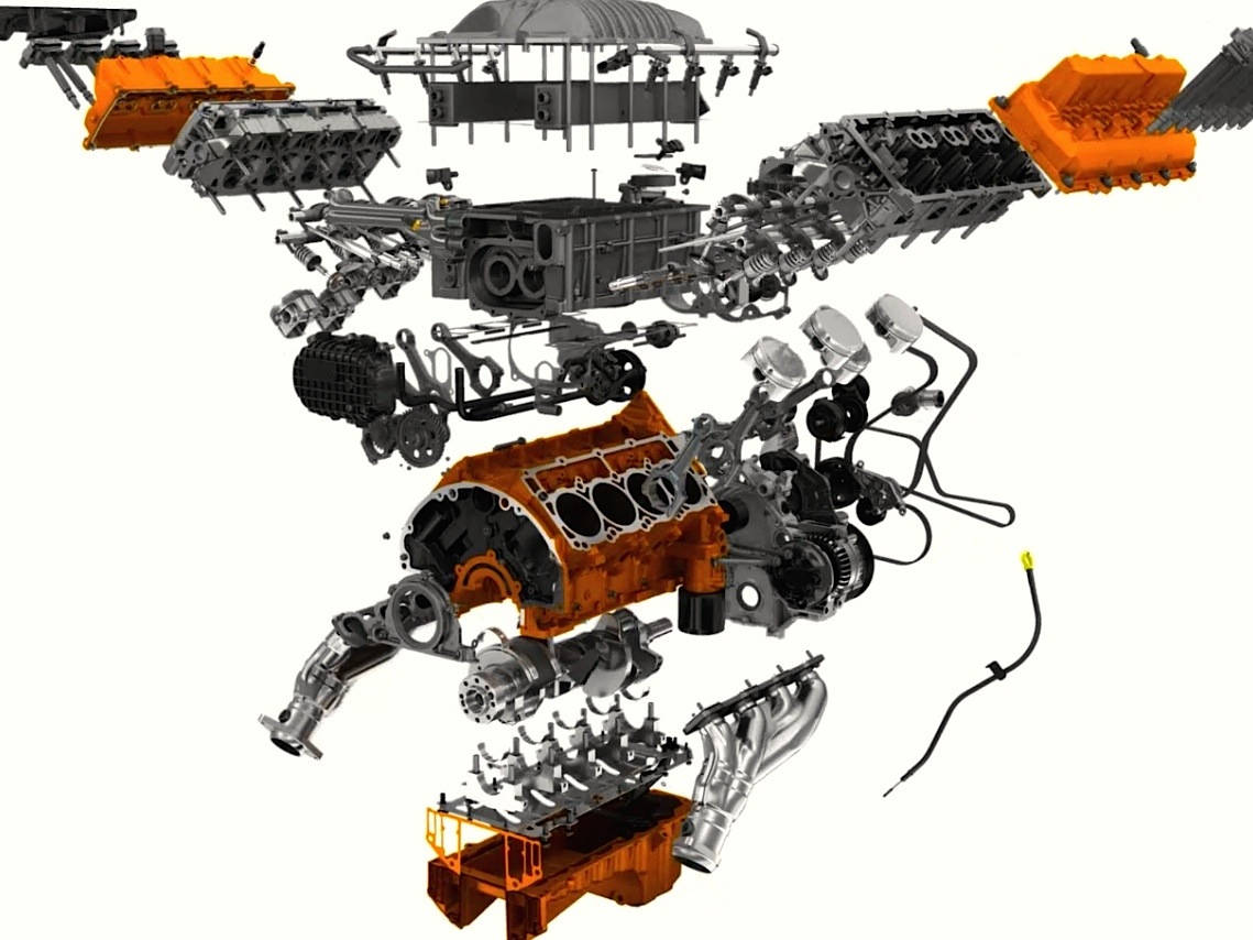 hight resolution of hellcat engine parts