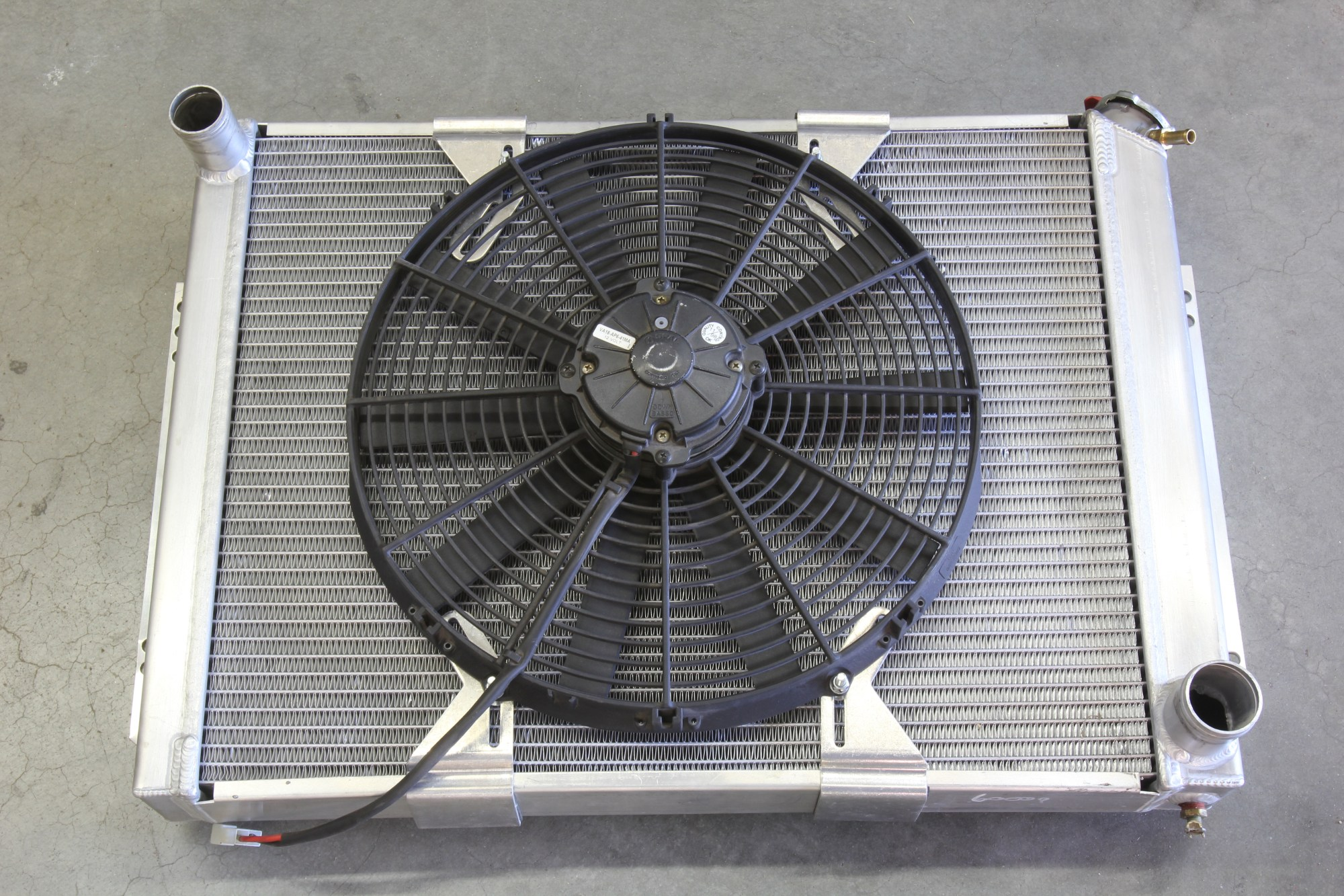 hight resolution of here s a photo of a typical 16 inch fan mounted without a shroud on an