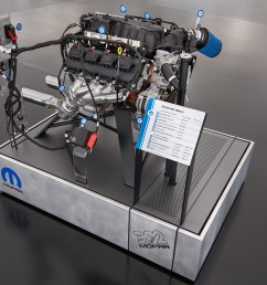 this exploded view of a 6 4 liter hemi engine highlights the components [ 3000 x 2000 Pixel ]