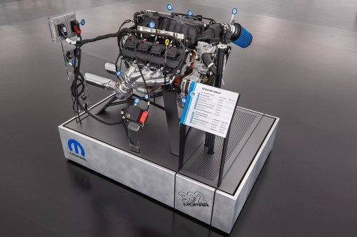 small resolution of this exploded view of a 6 4 liter hemi engine highlights the components