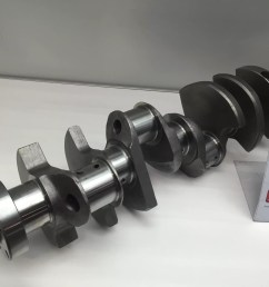this 331 stroker cast crankshaft now features oe ford rod journals no need to mess with retro fit chevy bearings  [ 3264 x 2448 Pixel ]