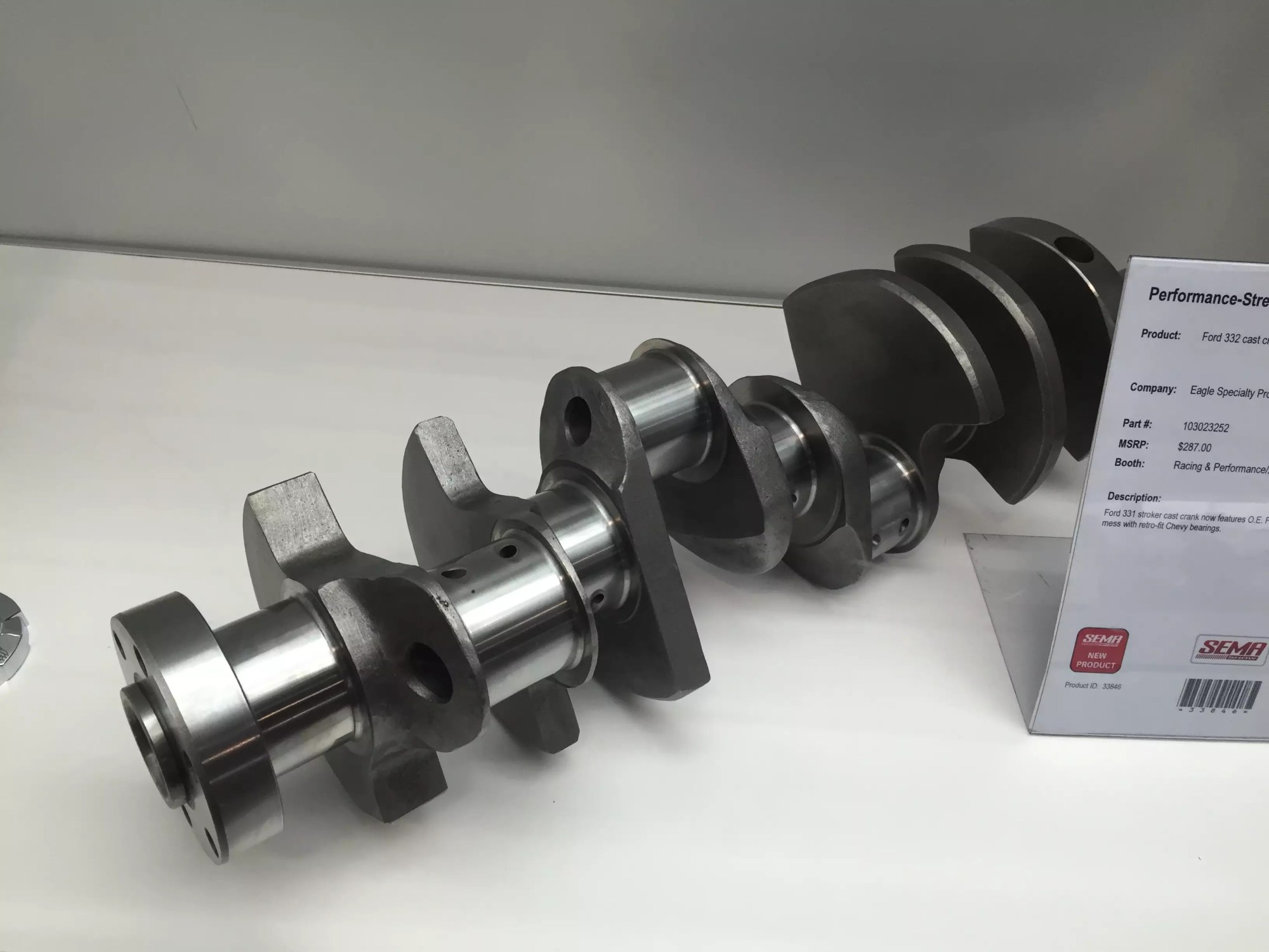 hight resolution of this 331 stroker cast crankshaft now features oe ford rod journals no need to mess with retro fit chevy bearings