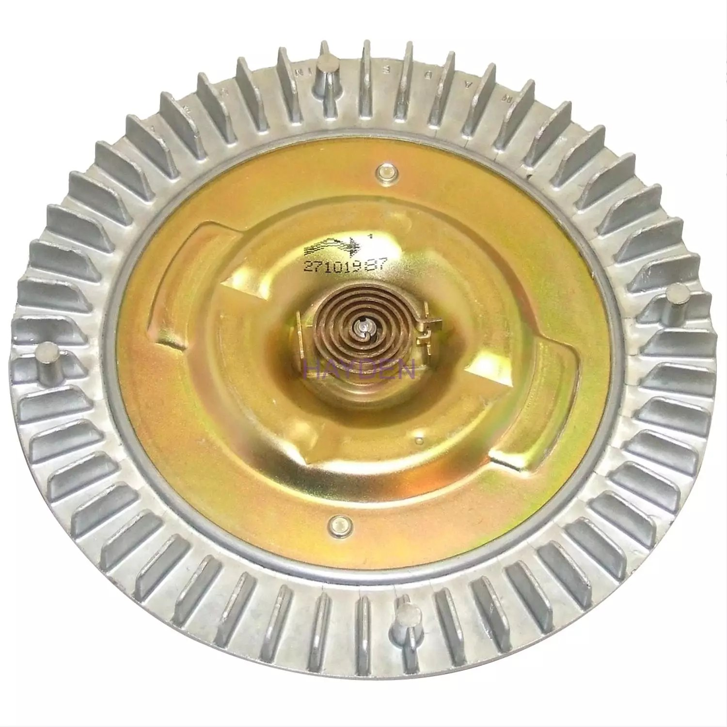 hight resolution of the thermal fan clutch operates in response to underhood temperatures as hot air blows across the radiator it heats a thermal spring mounted at the front