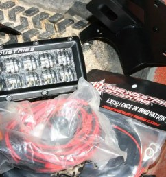 each led light kit except for the overhead light bar from rigid industries comes with a mounting bracket a complete wiring loom a switch and a relay if  [ 1280 x 853 Pixel ]