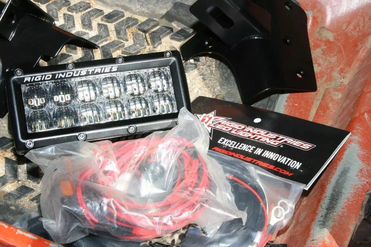 hight resolution of each led light kit except for the overhead light bar from rigid industries comes with a mounting bracket a complete wiring loom a switch and a relay if