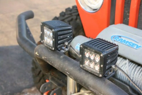small resolution of the rugged ridge bumper also provided grille guard mounting tabs for the driving lights which should be mounted higher to allow a great range to their