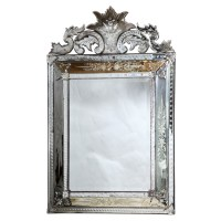 Etched Venetian Glass Mirror : On Antique Row - West Palm ...