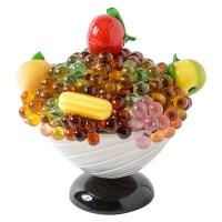 Czech & Italian Glass Fruit Table Lamp : On Antique Row ...