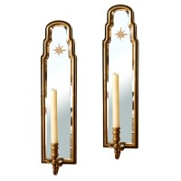 Pair of Vintage Chapman Mirrored Sconces : On Antique Row ...