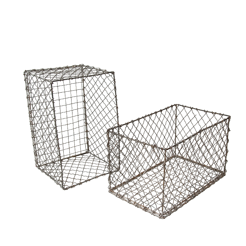 Pair of Vintage French Wire Baskets : On Antique Row