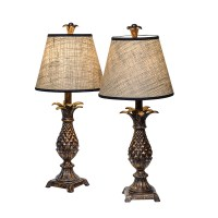 Pair of Vintage Pineapple Lamps with Shades : On Antique ...