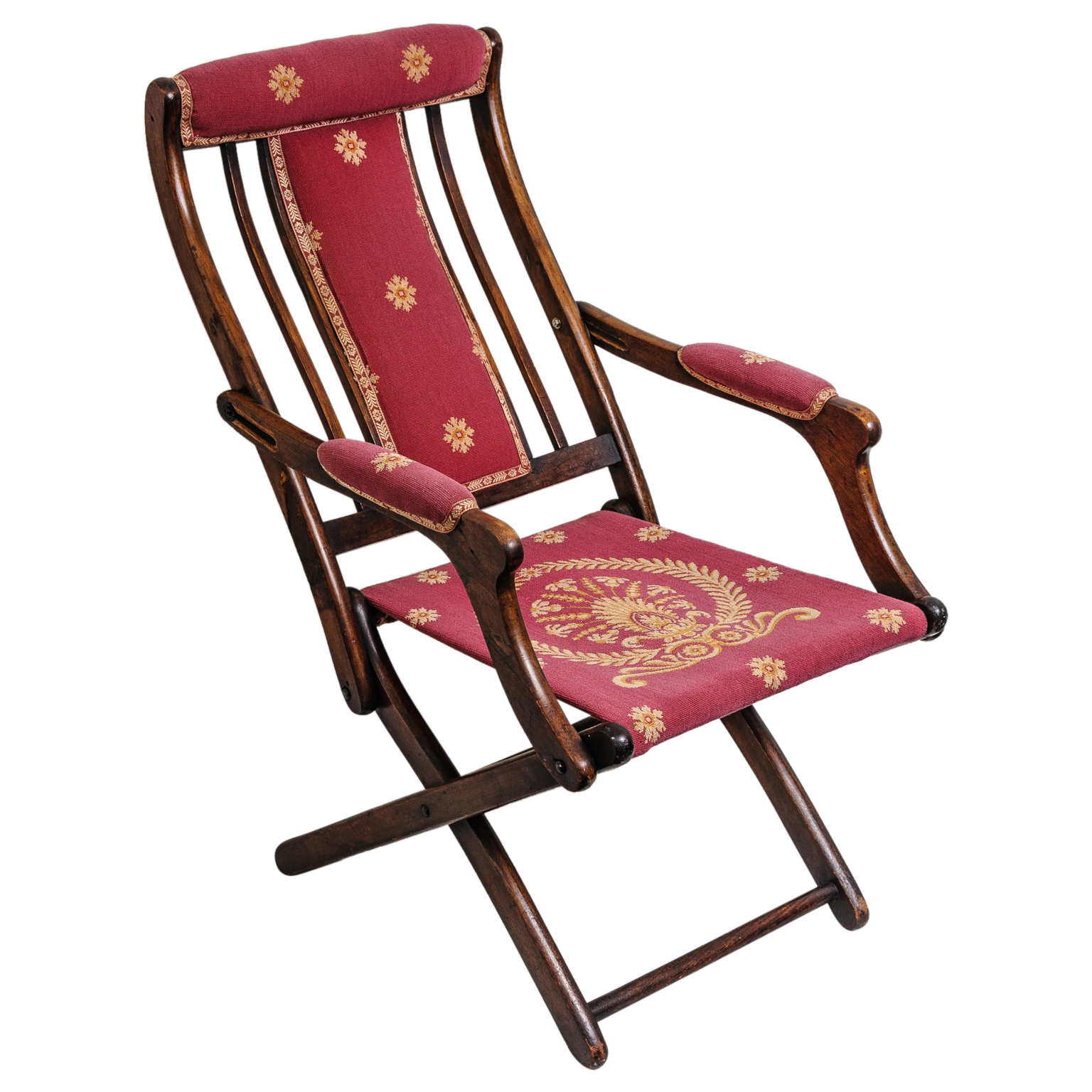 folding chair types mens valet 19th century french napoleonic campaign style